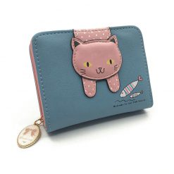 Faux Leather Cat Wallet