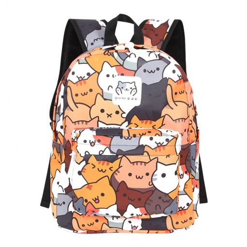 Colorful Neko Cat Backpack