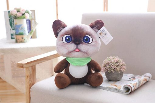 Cat Plush Toy for Children Brown