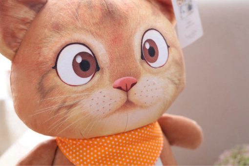 Cat Plush Toy for Children Close Up