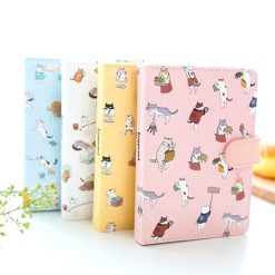 Hardcover cat notebook pastel colors