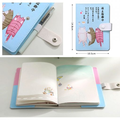 Kawaii Japanese Style Cat Planner Features