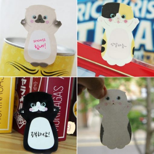 Set of 8 Korean Cat Sticky Note 1