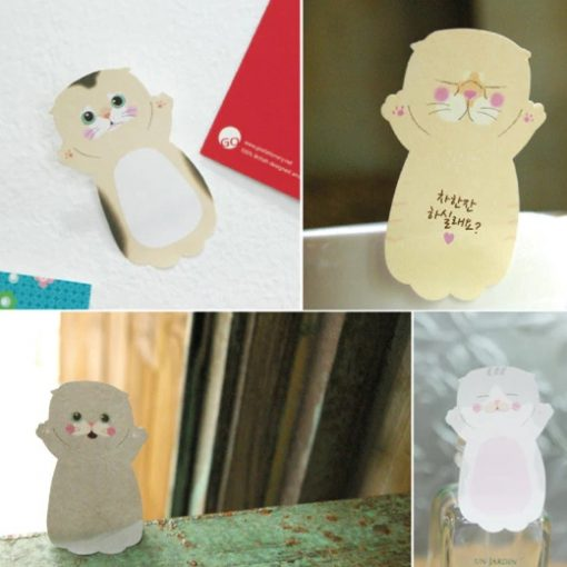 Set of 8 Korean Cat Sticky Note 2