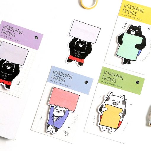 Set of 4 Wonderful Friends Korean Cat Sticky Note