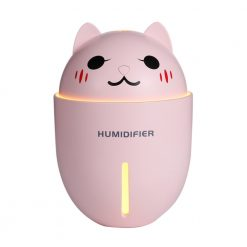 3-in-1 Cat USB Air Humidifier, LED Light & Fan Pink