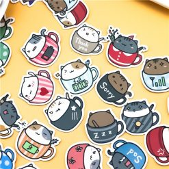 Set of 40pcs Kawaii Cat Stickers