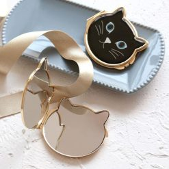 Elegant Cat Pocket Mirror
