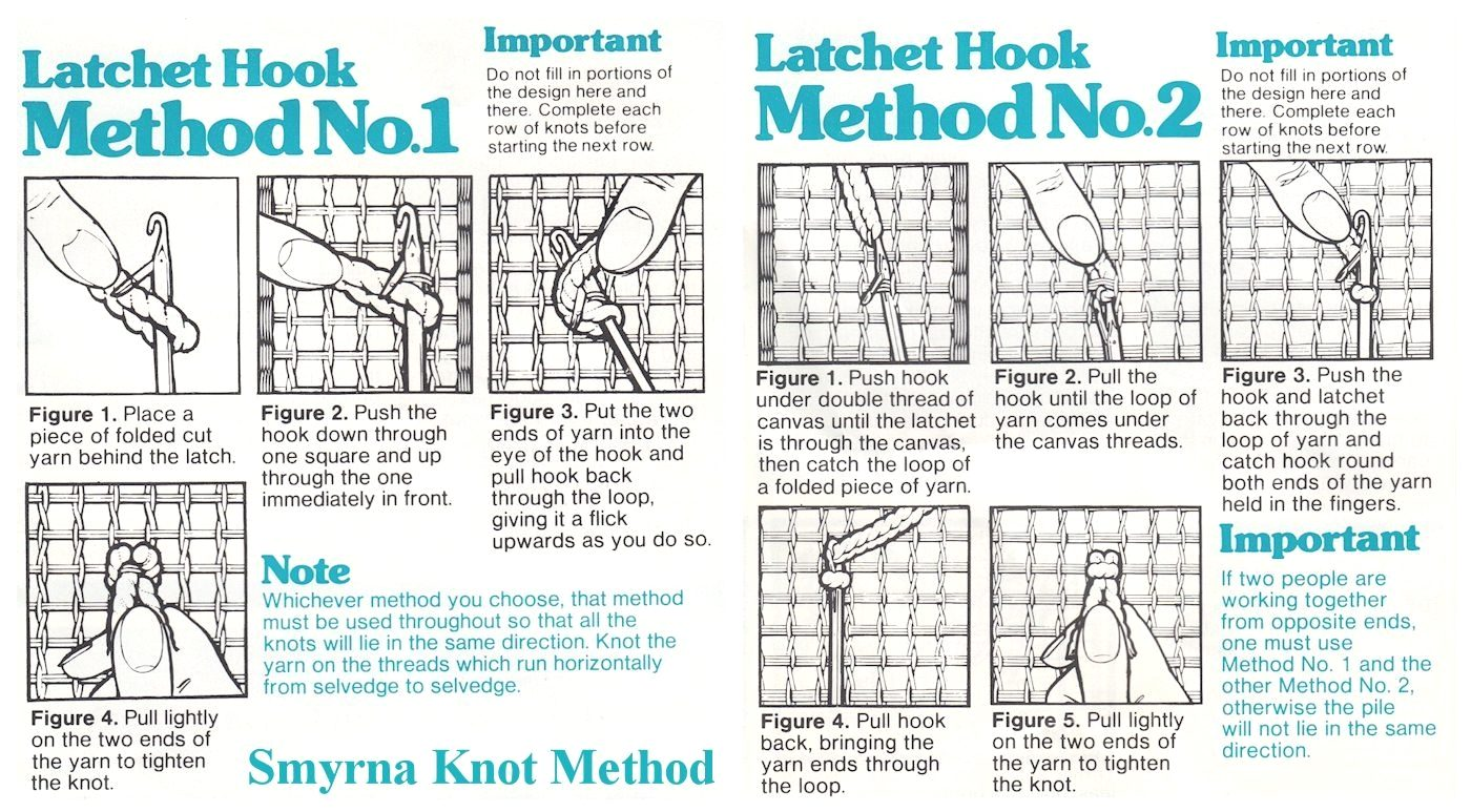latch hook two methods